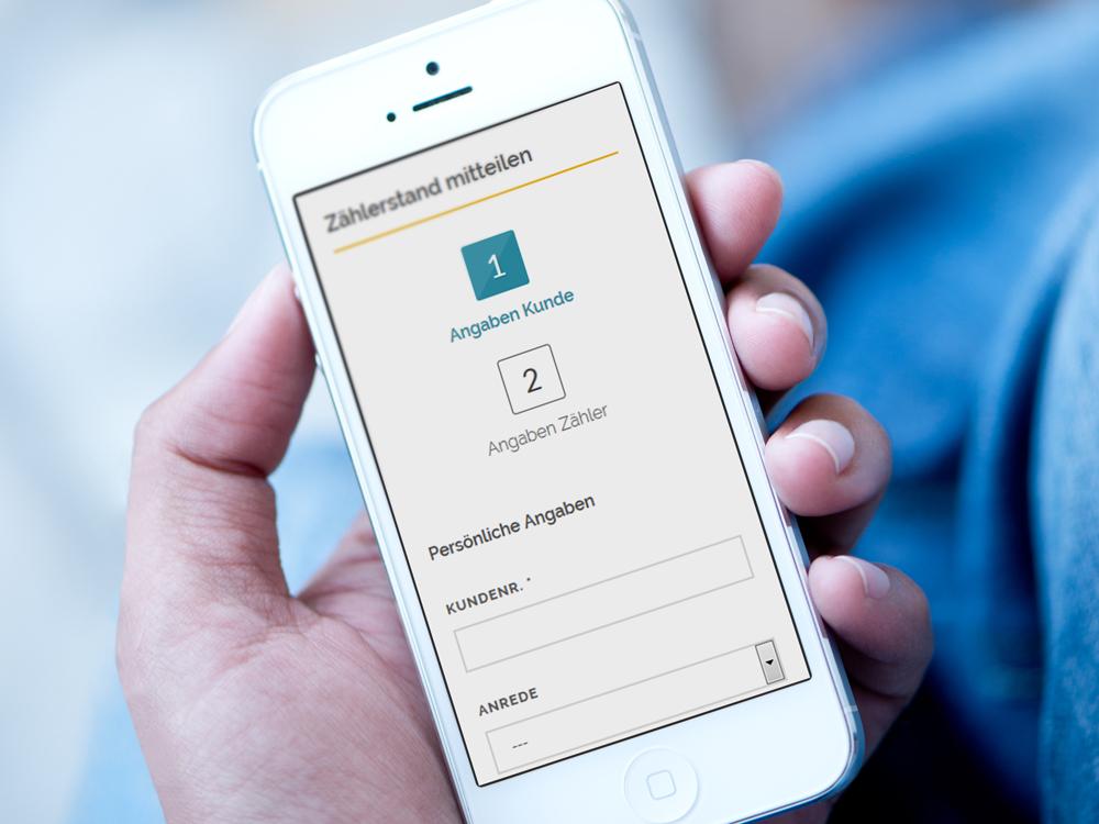 Immer griffbereit, z.B. um Zählerstände direkt durchzugeben: Ihre Smartphone-App!